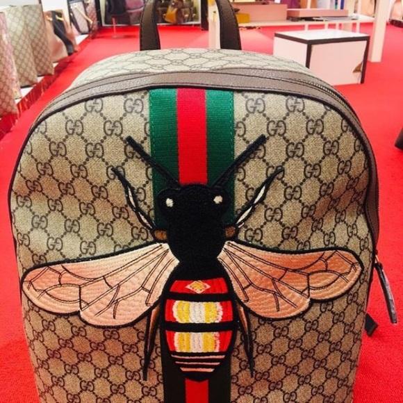 a27b973c35db02 Bags | Gucciweb Animalier Bee Backpack | Poshmark